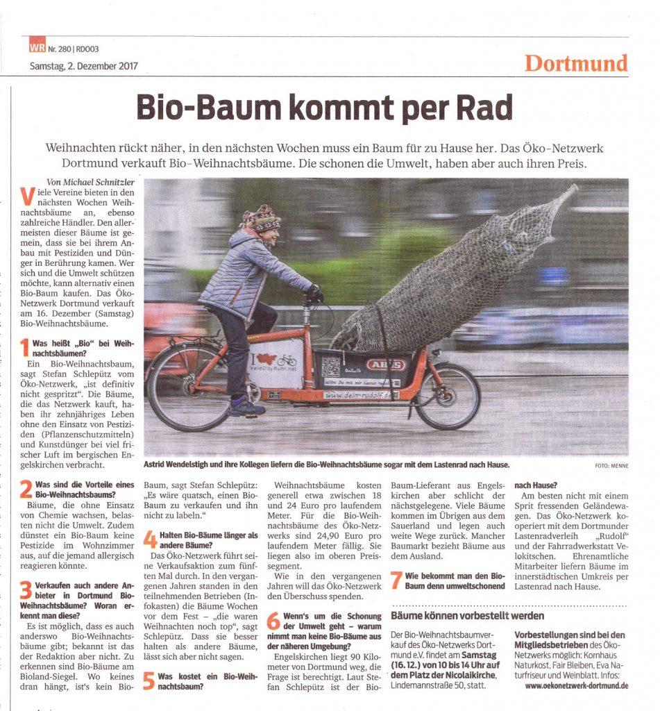 Zeitungsartikel Bio-Baum