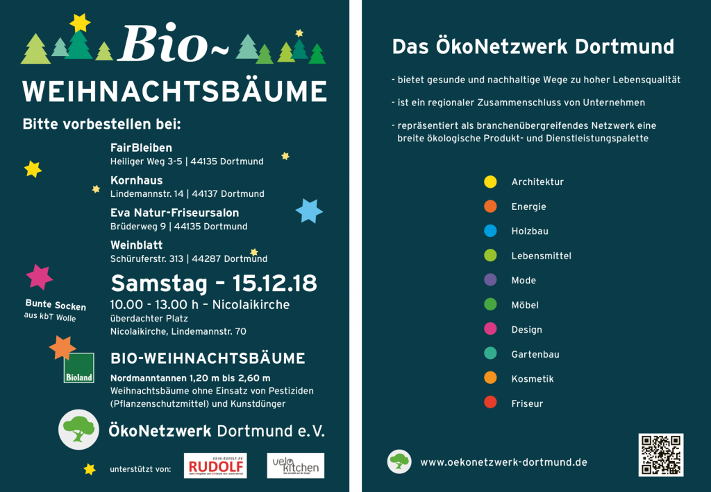 Bioweihnachtsbaum Verkauf Flyer 2018