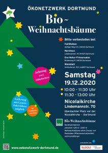 plakat Bioweihnachtsbäume