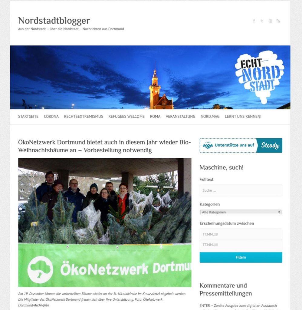 Nordstadtblogger screenshot Artikel ÖkoNetzwerk