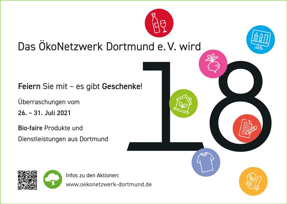 Ökonetzwerk Geburtstags-Flyer